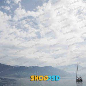 آسمان ابری | قایق و رودخانه